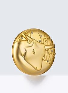 Taurus Zodiac Powder Compact