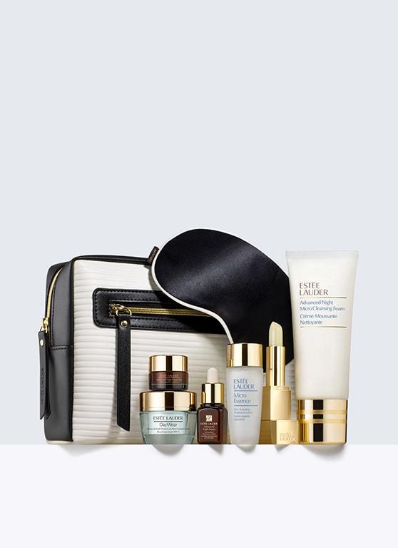 雅诗兰黛:任意消费,即能以$39.5换购价值$160的护肤品套装。超值换购 !